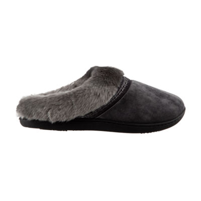 Isotoner Velour Hoodback Slippers with 360 Memory Foam