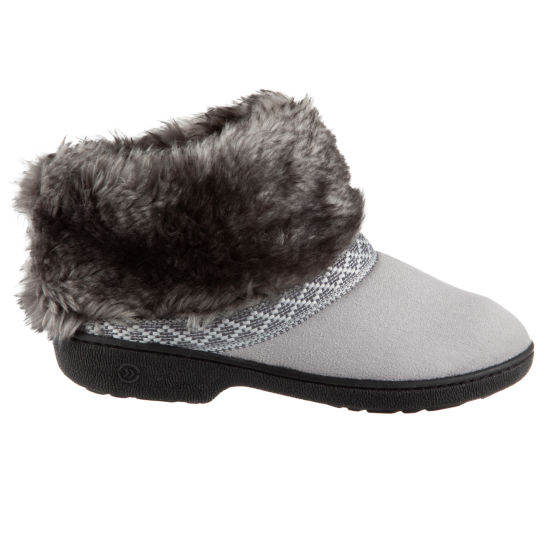 Isotoner Microsuede Bootie Slippers with 360 Memory Foam
