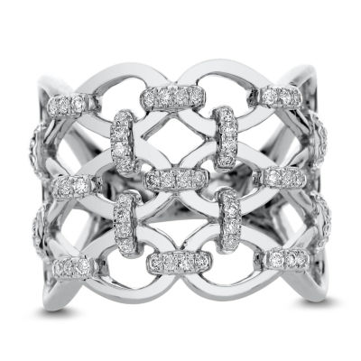 Womens 1 1/2 CT. T.W. White Diamond 14K White Gold Cocktail Ring