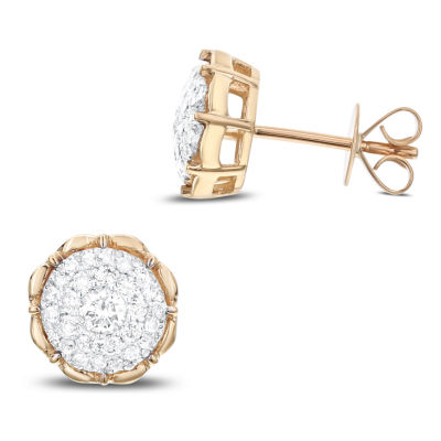 1/2 CT. T.W. White Diamond 14K Gold 9.9mm Stud Earrings