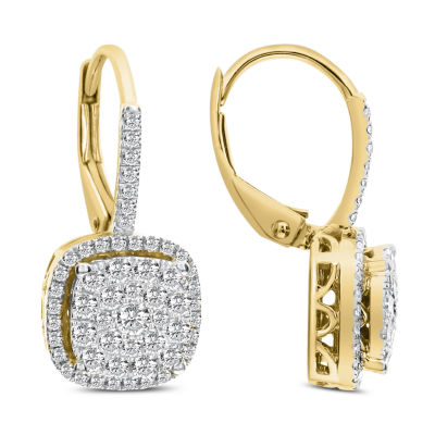 1/2 CT. T.W. White Diamond 14K Gold Drop Earrings