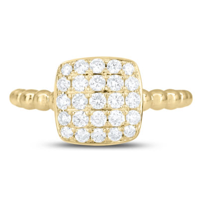 Womens 1/2 CT. T.W. White Diamond 14K Gold Cocktail Ring