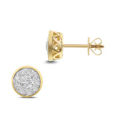 3/4 CT. T.W. White Diamond 14K Gold 8.1mm Stud Earrings
