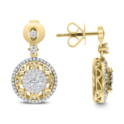 3/4 CT. T.W. White Diamond 14K Gold Drop Earrings