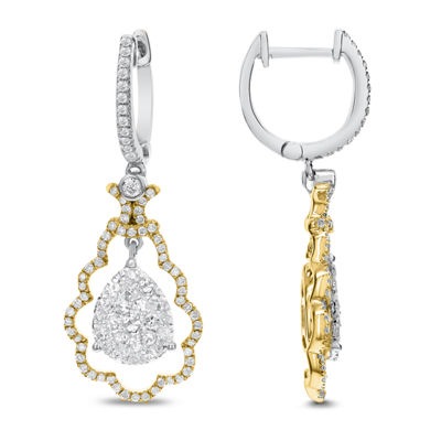 1 CT. T.W. White Diamond 14K Gold Drop Earrings