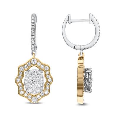 1 CT. T.W. White Diamond 14K Gold Drop Earrings