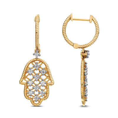 1/3 CT. T.W. White Diamond 14K Gold Drop Earrings