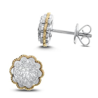 1/3 CT. T.W. White Diamond 14K Gold 9.4mm Stud Earrings