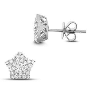 1 Pair 3/8 CT. T.W. White Diamond 14K White Gold Earring Set