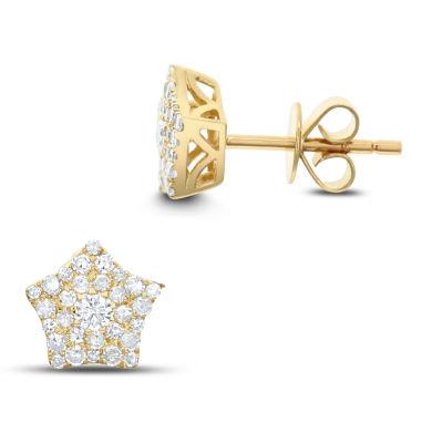 1 Pair 3/8 CT. T.W. White Diamond 14K Gold Earring Set