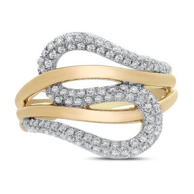 Womens 1/2 CT. T.W. White Diamond 14K Gold Cocktail Ring