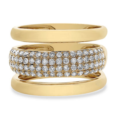 Womens 3/4 CT. T.W. White Diamond 14K Gold Cocktail Ring