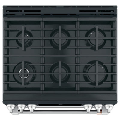 "Café™ 30"" Slide-In Front Control Gas Double Oven with Convection Range"