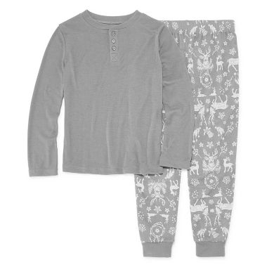 NORTH POLE TRADING COMPANY DEERS AND MORE 2 PIECE PAJAMA SET - BOY'S TODDLER