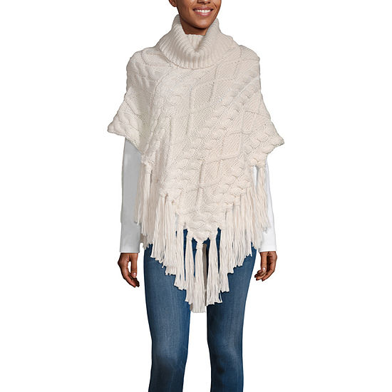 Mixit Fringe Patchwork Poncho - Fitted