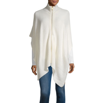 Mixit Ribbed Zip Cape Cold Weather Wrap