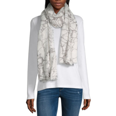 Mixit Marble Soft Wrap Abstract Scarf