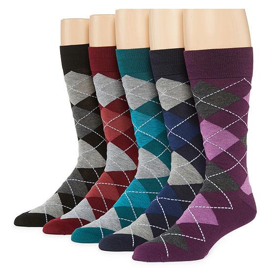 Stafford 5 Pair Crew Socks-Mens