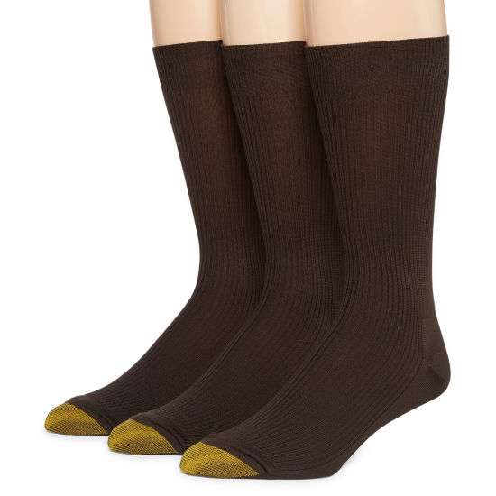 Gold Toe® 3-pk. Dress Manhattan Non-Binding Crew Manhattan Socks