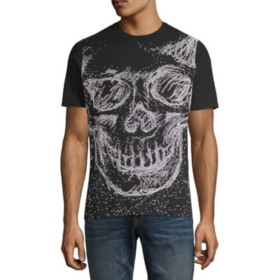 Mens Crew Neck Short Sleeve Graphic T-Shirt