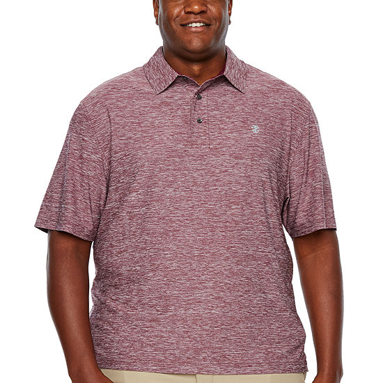 IZOD Ss Title Holder Short Sleeve Jersey Polo Shirt- Big and Tall