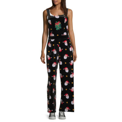 Eyeshadow Ugly Christmas Sweater Sleeveless Jumpsuit-Juniors