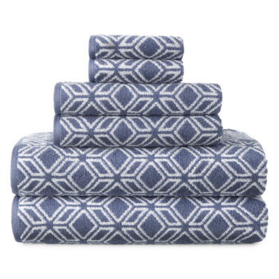 JCPenney Home Tribal Print 6-pc. Bath Towel Set