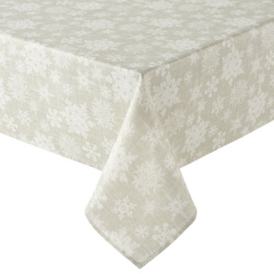 North Pole Trading Co. Snowflake Tablecloth