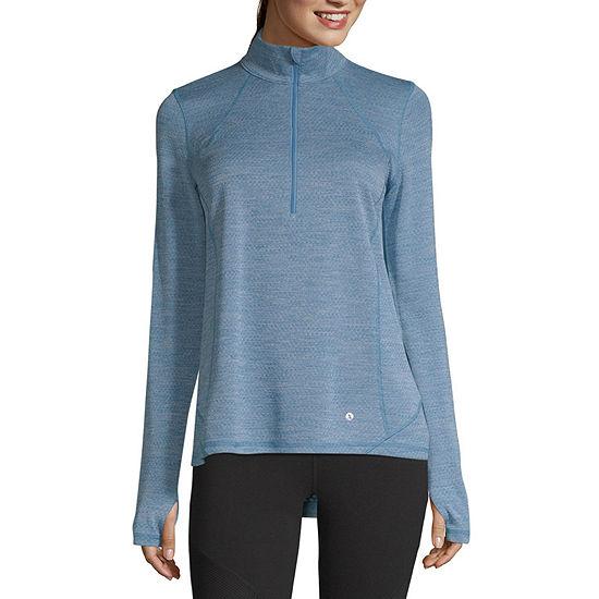 Xersion Womens Mock Neck Long Sleeve Quarter-Zip Pullover - JCPenney 20de5b3906