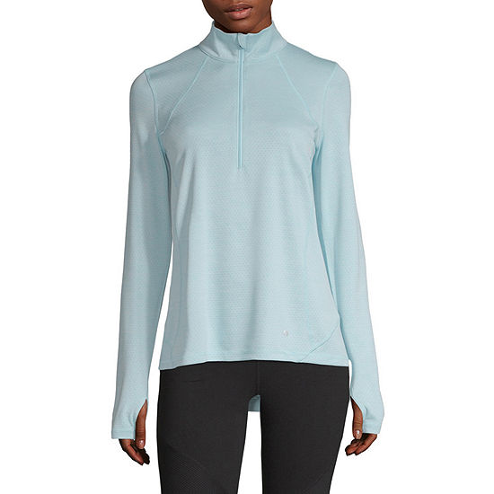7b84a8fded8727 Xersion Womens Mock Neck Long Sleeve Quarter-Zip Pullover - JCPenney
