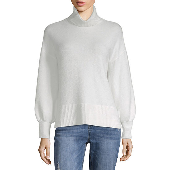 Ana Womens Turtleneck Long Sleeve Pullover Sweater