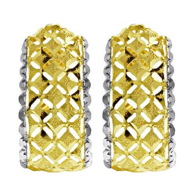 14K Gold 14K Two Tone Gold 23mm Hoop Earrings