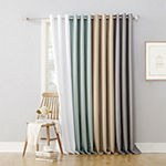 No 918 Valerie Light-Filtering Grommet-Top Single Curtain Panel