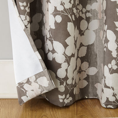 Sun Zero Piper Foliage Print Blackout Grommet Curtain Panel