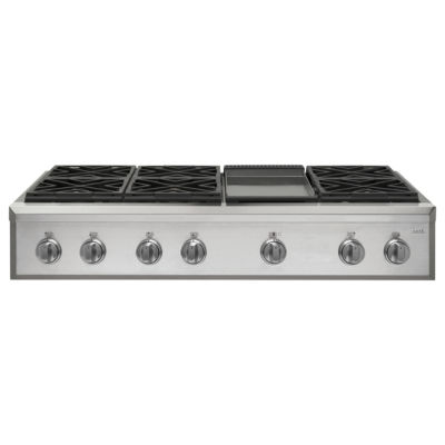 """Café™ 48"""" Professional Gas Rangetop with 6 Burners and Griddle (Natural Gas)"""