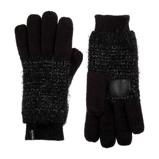 Isotoner Feather Yarn Knit Cold Weather Gloves
