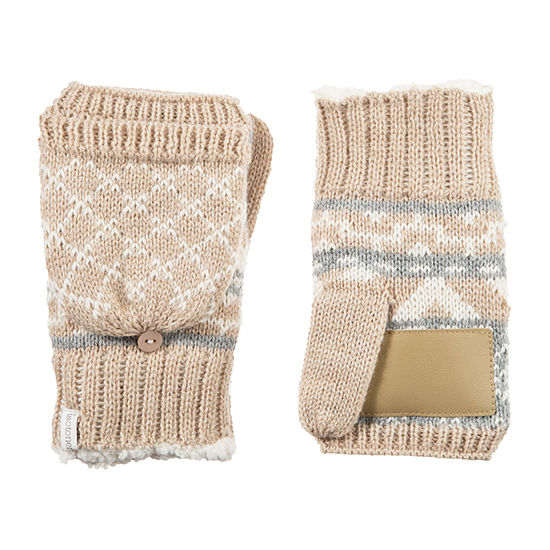 Isotoner Knit Midweight Flip Top Mittens