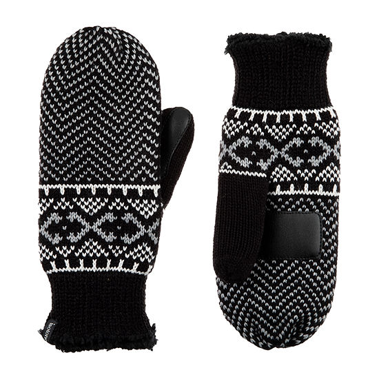 Isotoner Abstract Mittens