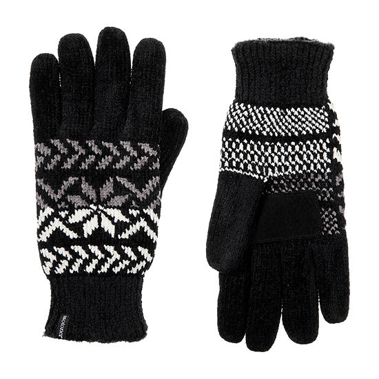 Isotoner Chenille Snowflake Cold Weather Gloves