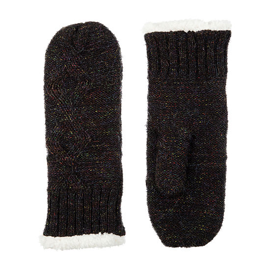 Isotoner Knit Midweight Mittens