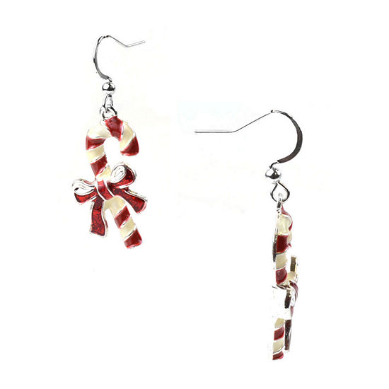 Mixit Candy Cane Drop Earrings