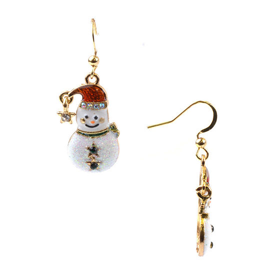 Mixit Snowman Drop Earrings