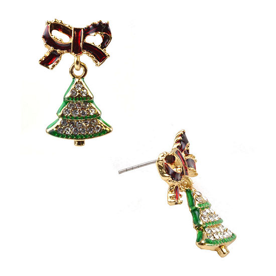 Mixit Christmas Tree Drop Earrings