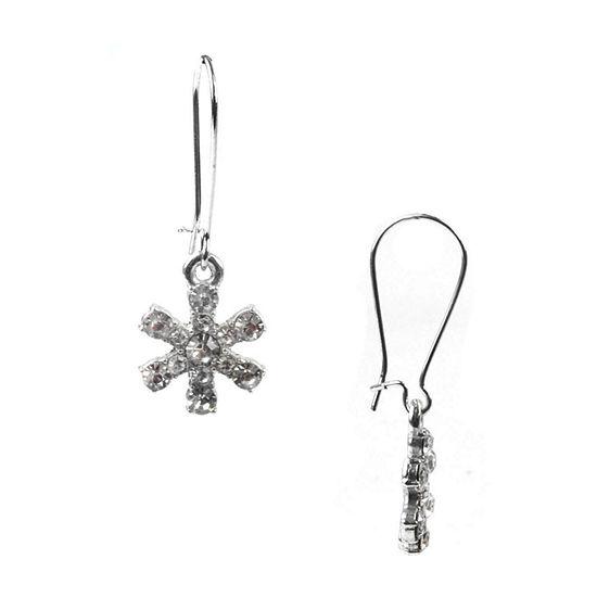 Mixit Snowflake Drop Earrings