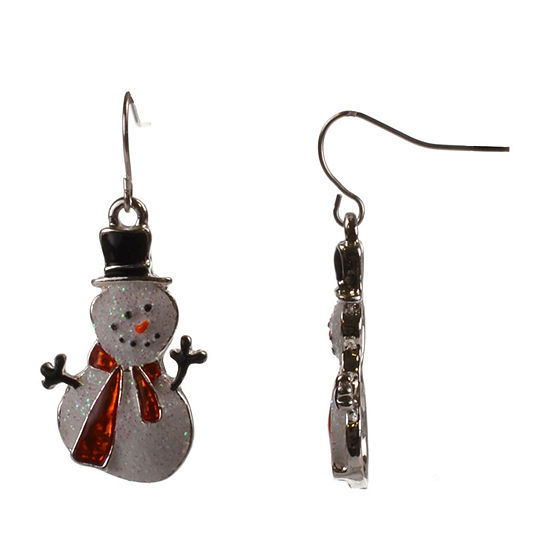 Mixit Snowman Drop Earrings