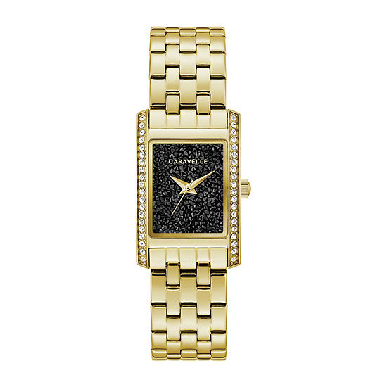 Caravelle Womens Gold Tone Stainless Steel Bracelet Watch-44l253