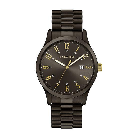 Caravelle Designed By Bulova Mens Black Stainless Steel Bracelet Watch - 45b160