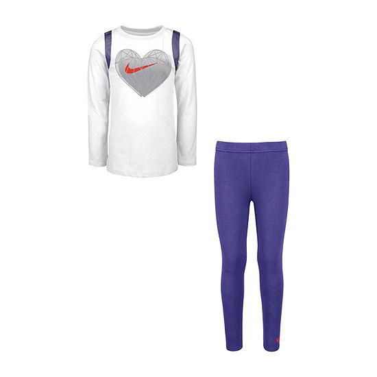 Nike 2-pc. Legging Set-Preschool Girls