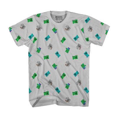 Little Kid / Big Kid Boys Short Sleeve Minecraft T-Shirt