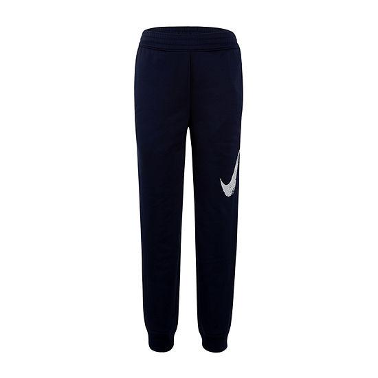 Nike Boys Performance Fleece Cinched Pull-On Pants - Preschool